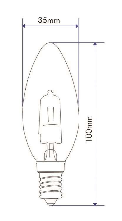 Ampoule Flamme LISSE D.35 30W 230V E14 TR HALO ECO
