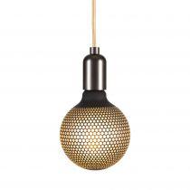 Ampoule globe décorative imprimée hexagone, Led, E27, G125 (174113)