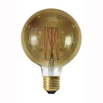 Ampoule Globe G125 filament LED 6W E27 2100K 300Lm dimmable Smoky (715988)