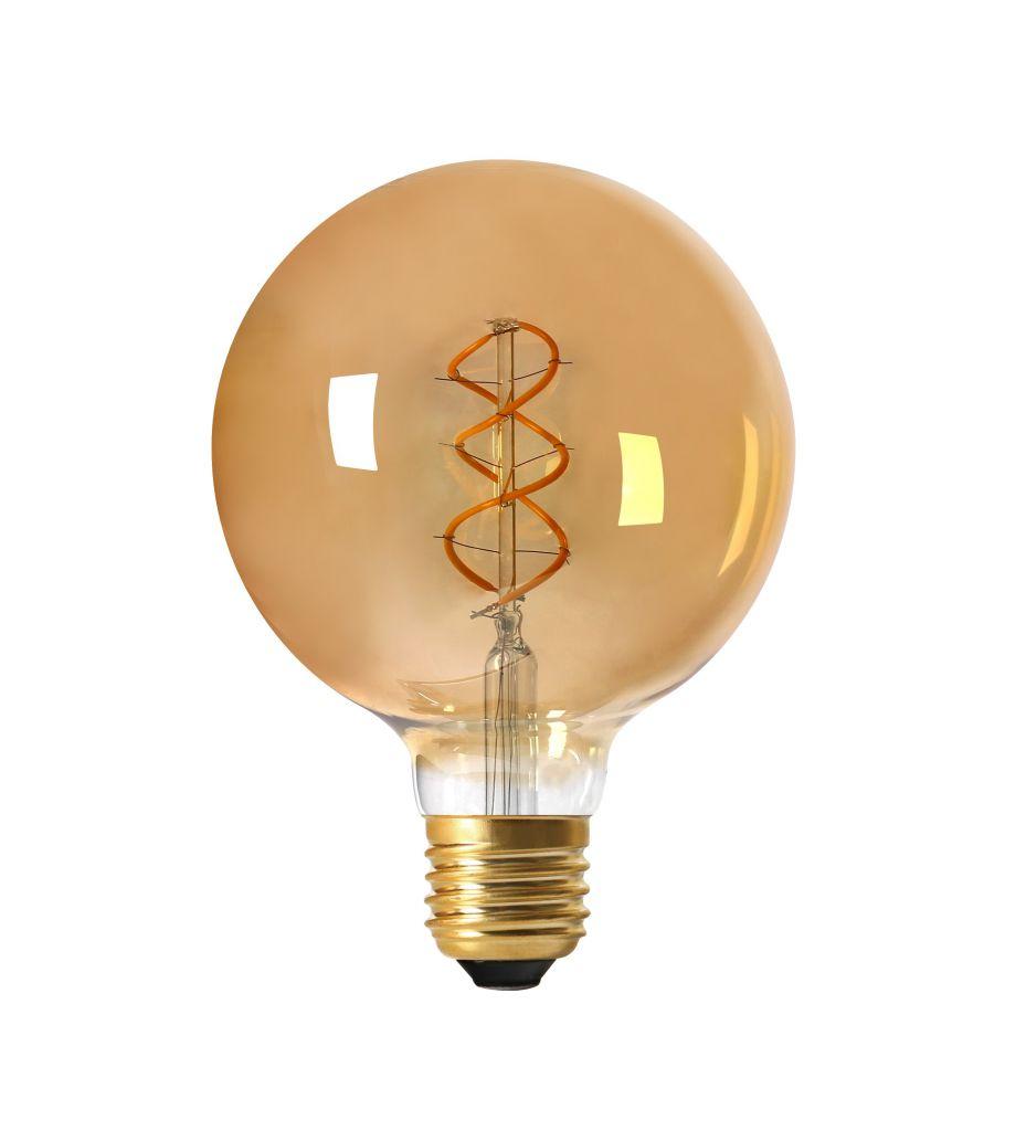 Ampoule Globe G125 Filament LED TWISTED 5W E27 2000K 260lm Ambrée (716602)