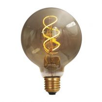 Ampoule Globe G95 filament LED twisted 4W E27 2000K 160Lm dimmable Smoky (716692)