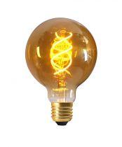 Ampoule Globe G95 Filament LED TWISTED 5W E27 2000K 260lm Ambrée (716601)
