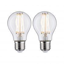 Ampoule LED Filament lot de 2 806lm E27 2700K clair 7W 230V (28641)