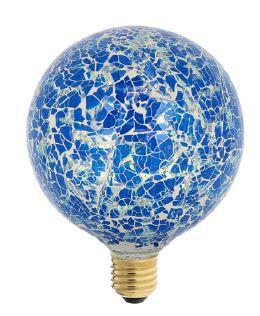 Ampoule mosaique bleue