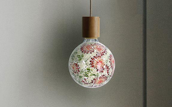 Ampoule mosaïque Florale (160301)