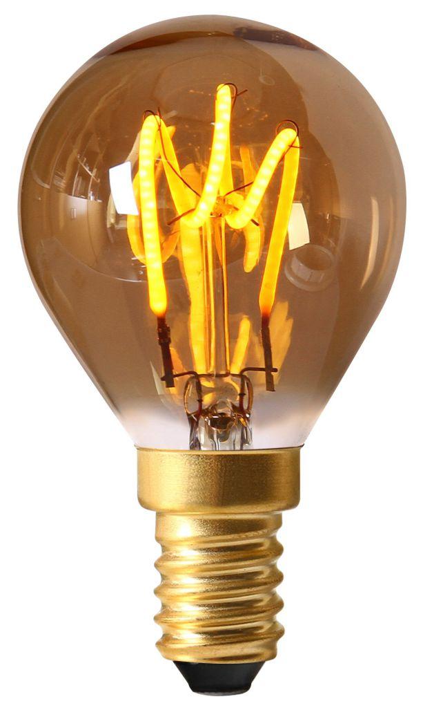 Filament Led 2w 2000k E14 Ambrée716606 G45 Loops Ampoule 90lm Spérique 4RL3Aj5