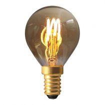 Ampoule Sphérique G45 filament LED 3 loops 3W E14 2000K 90Lm dimmable Smoky (716644)