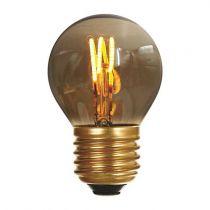 Ampoule Sphérique G45 filament LED 3 loops 3W E27 2000K 90Lm dimmable Smoky (716634)