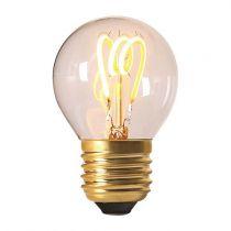 Ampoule Sphérique G45 filament LED 3 loops 3W E27 2200K 120Lm dimmable Claire (716633)