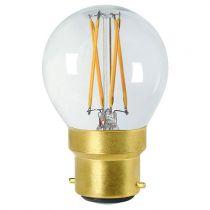 Ampoule Sphérique G45 filament LED 5W B22 2700K 520Lm dimmable Claire (28665)