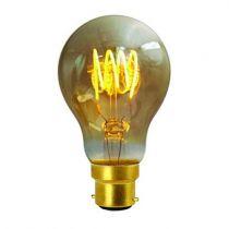 Ampoule Standard A60 filament LED 4 loops 4W B22 2000K 200Lm dimmable Ambrée (716666)