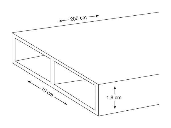 ANROTEC - PROFIL EN ALUMINIUM - 200 cm - 100 x 18 mm - 1.35 mm