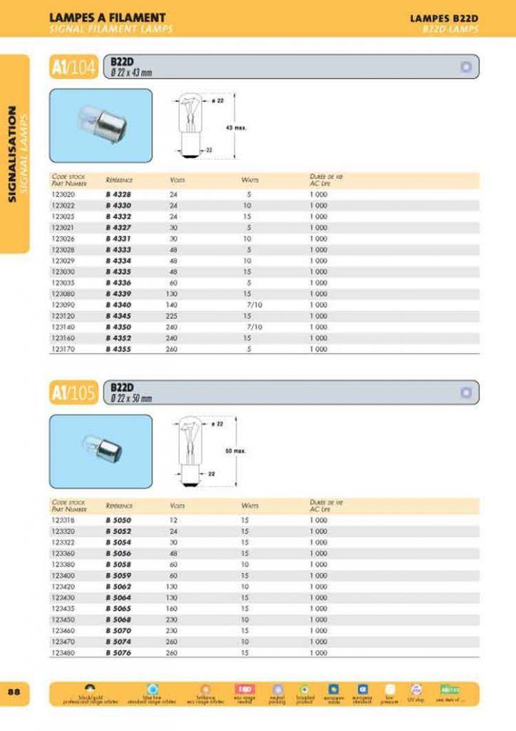 B22d 23x43 48v 10w (123029)