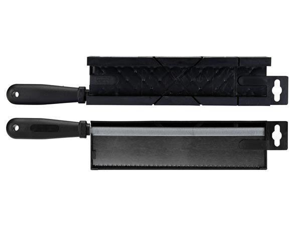 BOÎTE À ONGLETS - AVEC SCIE - 245 x 40 x 35 mm (HEB250065)