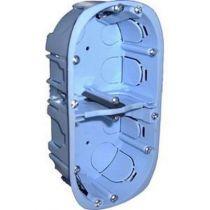 Boîte d\'encastrement cloison sèche à vis - 2 postes - horizontal/vertical - profondeur 40mm - entraxe 71mm