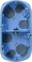 Boîte d\'encastrement cloison sèche à vis spécial bbc - 2 postes - horizontal/vertical - profondeur 40mm - entraxe 71mm