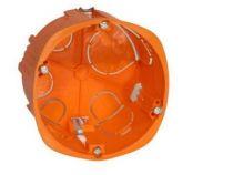 Boîte d\'encastrement cloison sèche pour prise 32a- vis - 1 poste - profondeur 40mm- diametre 85mm