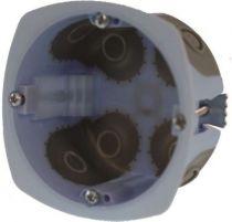 Boîte d\'encastrement cloison sèche spécial bbc- vis - 1 poste - profondeur 40mm- diametre 67mm