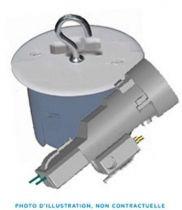 Boîte dcl point de centre + fiche/douille dcl e27 diamètre 67 mm