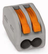 Borne de connexion  2 x 0,08-4 mm² fils souple ou rigide / Gris
