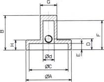 Bouton aluminium noir d:24