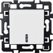 Bouton poussoir avec lampe 230v - 1,5ma + cache peinture