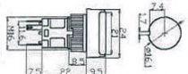 Bouton poussoir impulsion lumineux rectangulaire blanc