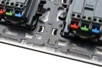 Bouton poussoir porte étiquette avec lampe 230v - 1,5ma + cache peinture