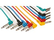 Cable patch professionnel 6.35mm mono 90° vers 6.35mm mono 90° (6 couleurs - 1m) (PAC126)
