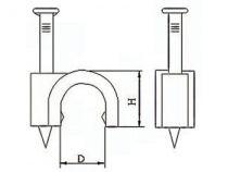 Clip de fixation rond, gris, 12mm (100pcs/boîte) (CFCR12G)