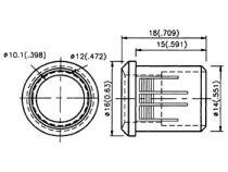 Clips de montage pour led 10mm (1pc) (CLIP10)