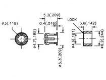 Clips de montage pour led 3mm (2pcs) (CLIP3)