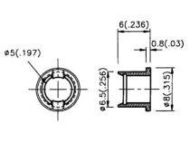 Clips de montage pour led 5mm (1pc) (CLIP5/1)