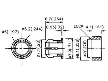 Clips pour led 5mm (2 pcs) (CLIP5)