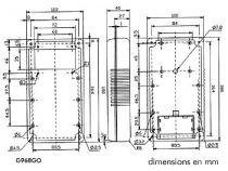 Coffret en abs - gris - open display - tilt (G968GO)