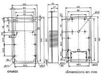 Coffret en abs - gris - solid displ. - tilt (G968GS)