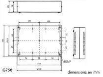 Coffret etance en abs 260x180x65 gris clair (G758)