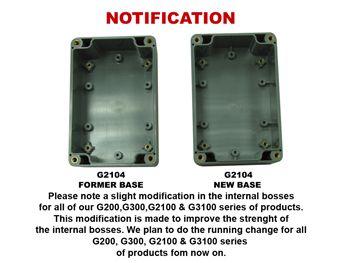 Coffret etanche en abs - gris fonce 265 x 185 x 95mm (G378)