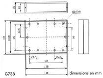 Coffret etanche en abs 140x110x35 gris clair (G738)
