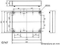 Coffret etanche en abs 225x165x40 gris clair (G747)