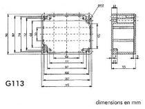 Coffret etanche en aluminium - 115 x 90 x 55mm (G113)