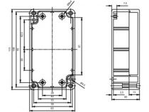 Coffret etanche en polycarbonate - gris clair 115 x 65 x 40mm (G203)