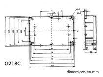 COFFRET ETANCHE EN POLYCARBONATE - GRIS CLAIR AVEC COUVERCLE TRANSPARENT 220 x 146 x 55mm  (G218C)
