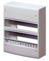 Coffret standard francais - en saillie - sans porte - équipés de bornier - 26modules (13x2) - ip30 ral9016