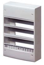 Coffret standard francais - en saillie - sans porte - équipés de bornier - 39modules (13x3) - ip30 ral9016