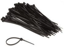 Colliers de serrage en nylon - 2.5 x 100mm - noir (100pcs) (ECTB100)