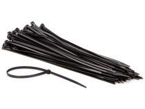 Colliers de serrage en nylon - 4.8 x 300mm - noir (100pcs) (ECTB300)