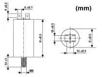 Condensateur de marche 5µf/450v (SUE5U)
