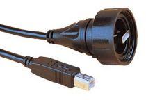 Cordon buccaneer usb b vers usb a de 2m etanche ip 68 standard