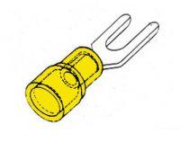 Cosse a fourche  5.3.mm (10pcs/emballage) - bleu (FYY5)